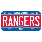 License Plate New York Rangers