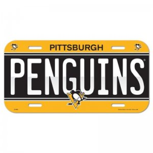 License Plate Pittsburgh Penguins