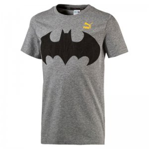 Puma Justice League Tee Medium Gray Heather Batman KIDS 176